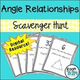 Angle Relationships Distance Learning Scavenger Hunt (TEKS 7.11C)