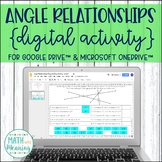 Angle Relationships DIGITAL Activity for Google Drive Distance Learning