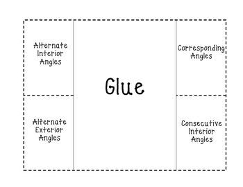 Angle Relationships Foldable 2