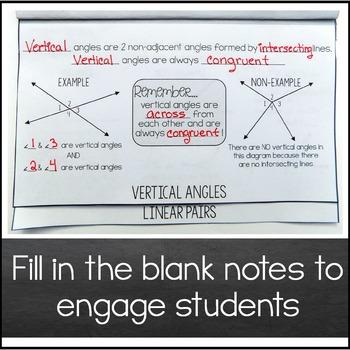 Angle Relationships Foldable
