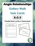 Angle Relationships Gallery Walk Task Cards