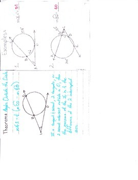 Angle Relationships In Circles