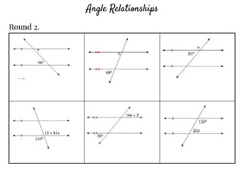 Angle Relationships Mad Minute