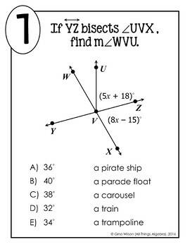 Angle Relationships Math Lib
