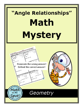 Angle Relationships Math Mystery