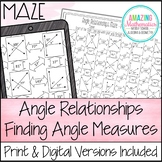 Angle Relationships Worksheet - Finding Angle Measures Maze Activity