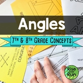 Angle Relationships, Middle School Skills Bundle