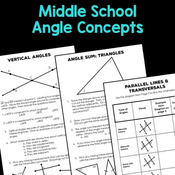Angle Relationships Activities For Middle School By Rise Over Run