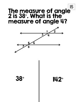Angle Relationships Halloween Activity (TRICK or TREAT)