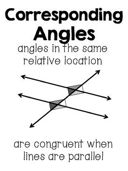 Angle Relationships Posters Set