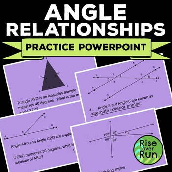 Angle Relationships Practice Powerpoint