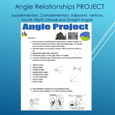 Angle Relationships Project--Supplementary, Complementary, Vertical, etc.
