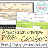 Angle Relationships Proof Activity  - High School Geometry Proofs