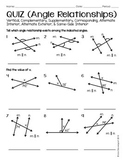 Angle Relationships (QUIZ)