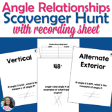 Parallel Lines Cut by a Transversal/ Angle Relationships Scavenger Hunt Activity