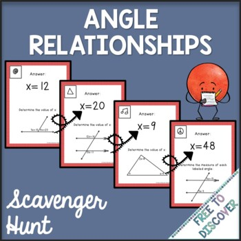 Angle Relationships Scavenger Hunt