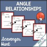 Angle Relationships Scavenger Hunt Activity