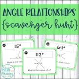 Angle Relationships Scavenger Hunt Activity Complementary, Supplementary, Vert.