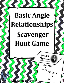 Angle Relationships Scavenger Hunt Game