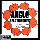 Angle Relationships Activity Fall Pumpkin Wreath Self Chec