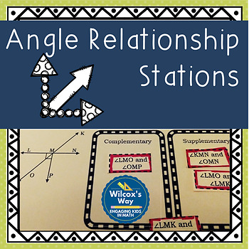 Angle Relationships Stations: Complementary, Supplementary and Vertical Angles