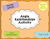 Angle Relationships Task Card Activity