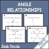 Angle Relationships Activity - Task Cards