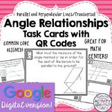 Angle Relationships Task Cards with QR Codes GOOGLE Slide Version