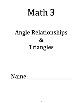 Angle Relationships/Triangles Text Book