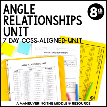 8th Grade Angle Relationships Unit: 8.G.5