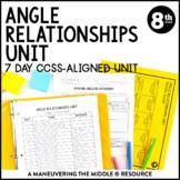 8th Grade Math Angle Relationships Unit: 8.G.5