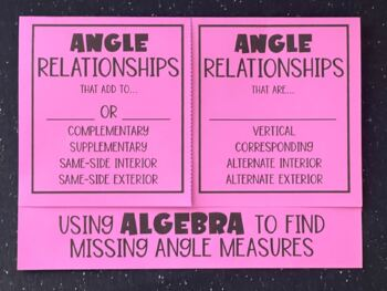 Angle Relationships (Using Algebra to Find Angle Measures)