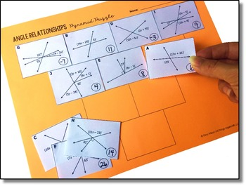 Angle Relationships Pyramid Sum Puzzle by All Things ...