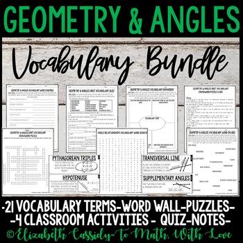 Angle Relationships-Vocabulary Bundle-Vocabulary Unit