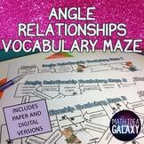 Angle Relationships Vocabulary Maze