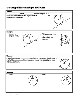 31 Angle Relationships In Circles Worksheet Answers ...
