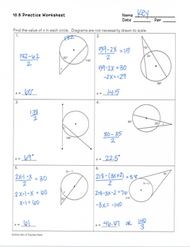 Angle Relationships in Circles Lesson by Mrs E Teaches ...