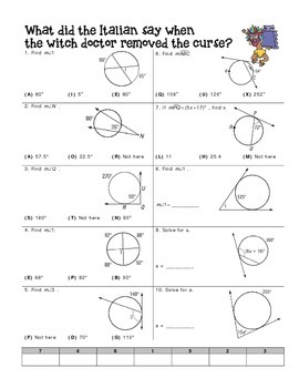 angle relationships in circles worksheet by miss lauren tpt. Black Bedroom Furniture Sets. Home Design Ideas
