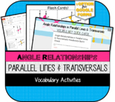 Angle Relationships in Parallel Lines & Transversals Vocabulary Activities