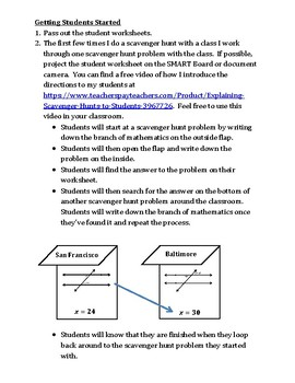 Angle Relationships with Parallel Lines Scavenger Hunt Game