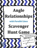 Angle Relationships with Algebra Scavenger Hunt Game