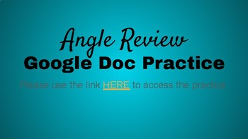Google Doc Angle Review