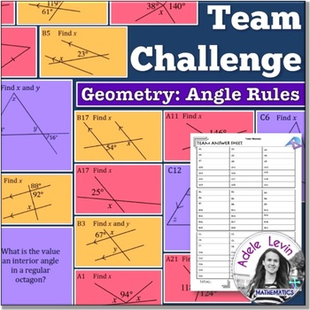 Angle Rules (TEAM CHALLENGE task cards)