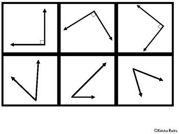 Angle Sort Freebie{Obtuse, Acute, Right Angles}