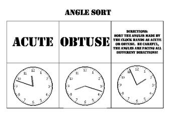 Angle Sort- with clocks