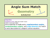 Angle Sum Activity for Geometry