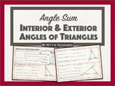Angle Sum - Interior & Exterior Angles of Triangles