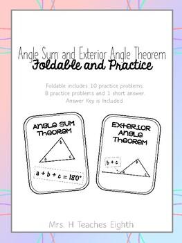 Angle Sum and Exterior Angle Foldable