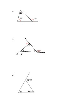 Angle Sums of a Triangle  and Exterior Angles of Triangles