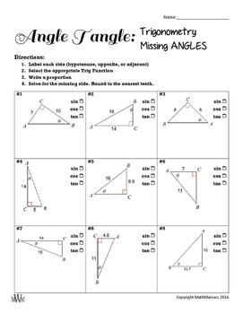 Angle Tangle: Find Missing Angles with Trig